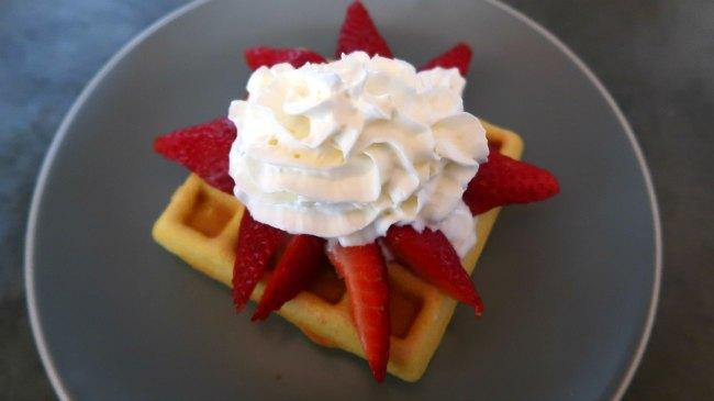 Valentines Day Breakfast Idea - Keto Waffles