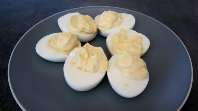 Hard boiled eggs - easy vegetarian travel snack