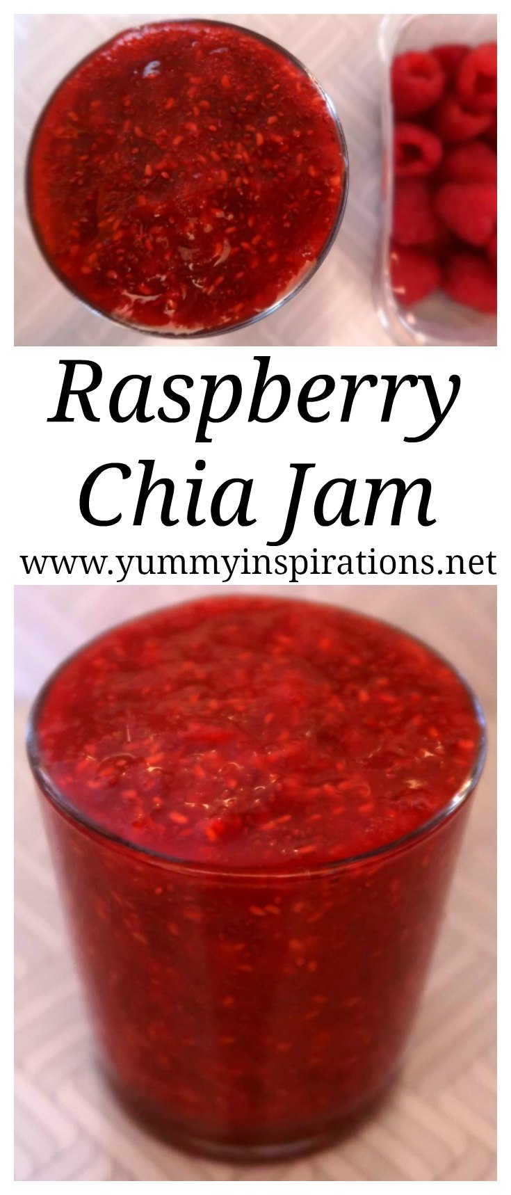 Fresh Raspberry Chia Jam Recipe - How to make easy vegan & keto friendly chia seed jam recipes with no sugar and no pectin.