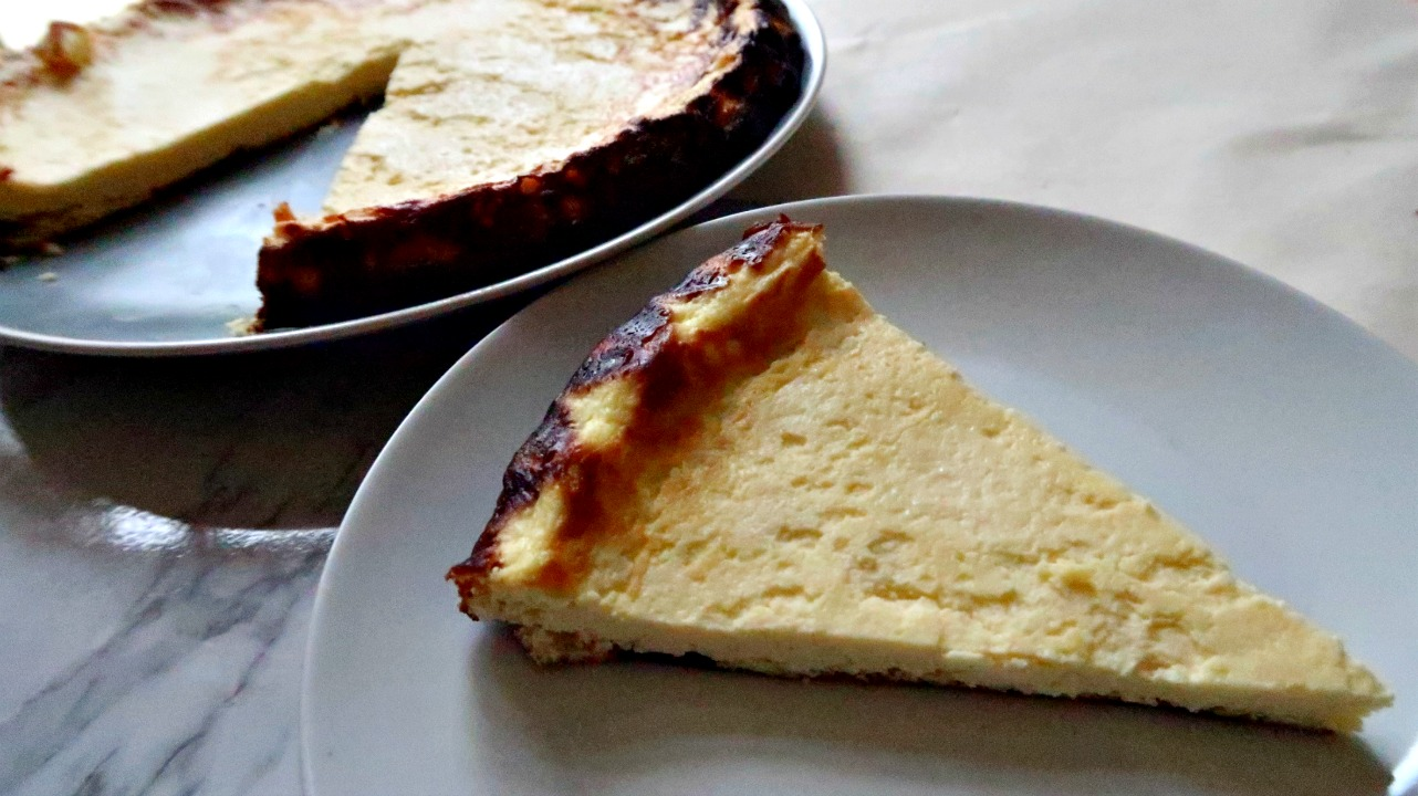 Lemon Ricotta Cake - high protein vegetarian cake