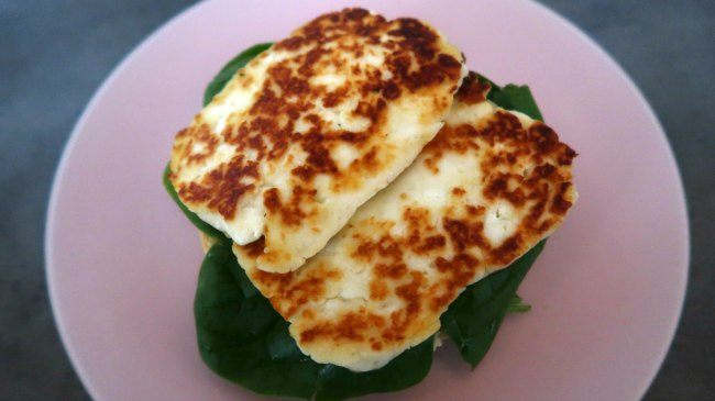 Vegetarian halloumi breakfast
