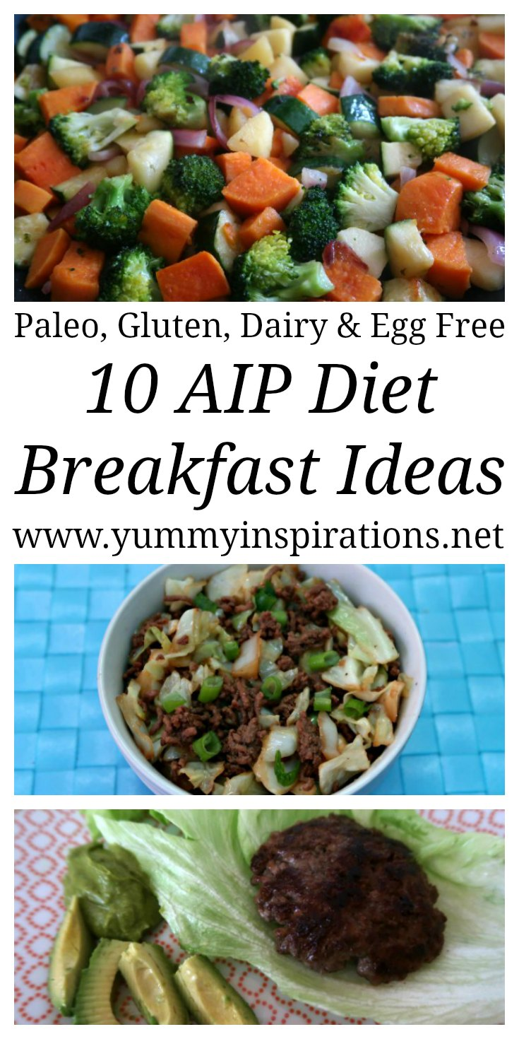 10 AIP Diet Breakfast Ideas - Easy recipes for breakfast on the elimination phase of Autoimmune Protocol Diet - Paleo, Nut Free, Dairy Free, Egg Free & Gluten Free