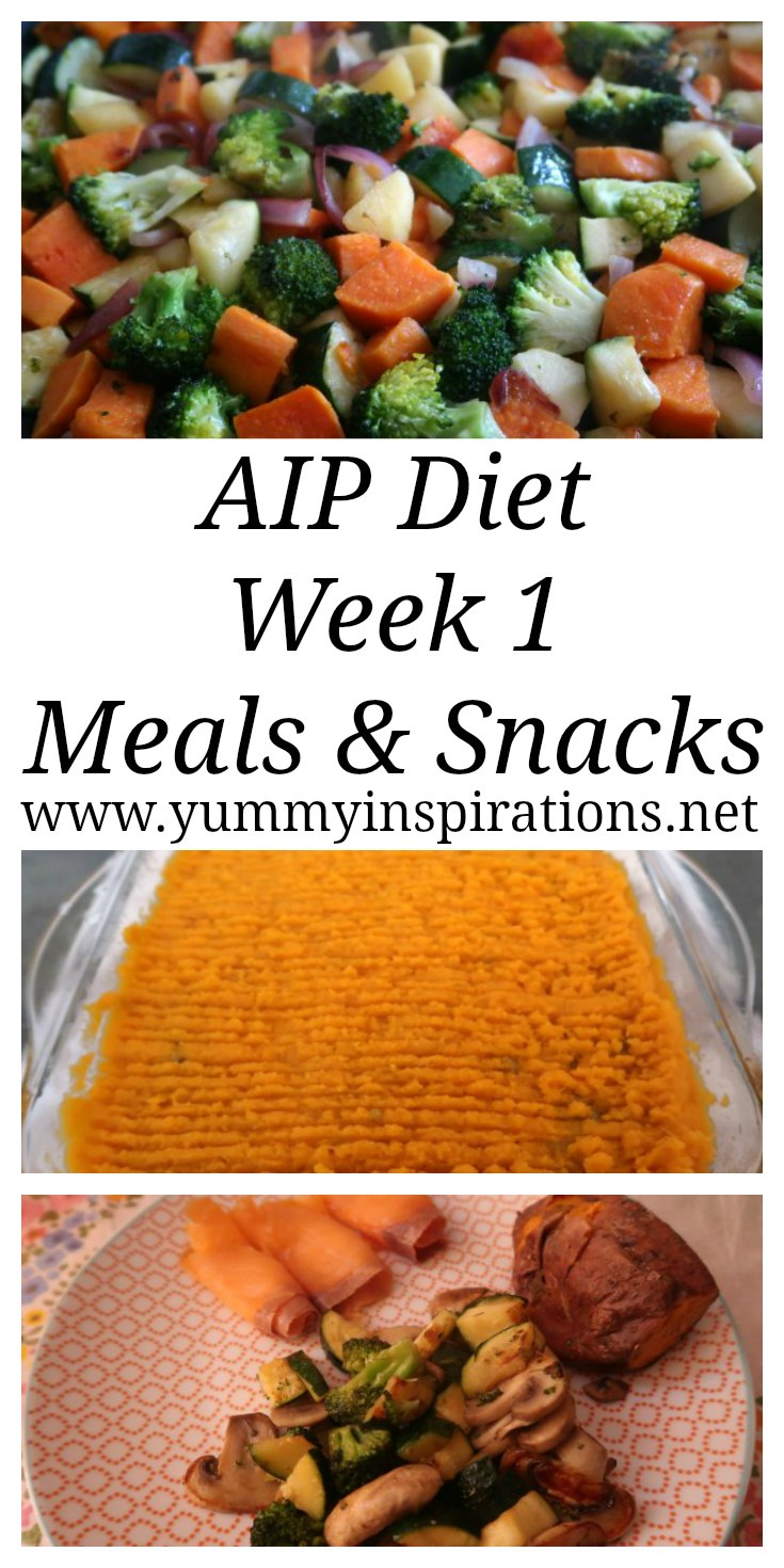 AIP Diet Plan - Week 1 - My experience of the first week of the Autoimmune Protocol Diet - with paleo friendly beginner recipes and ideas for breakfast, lunch, dinner, snacks & sweet treats.