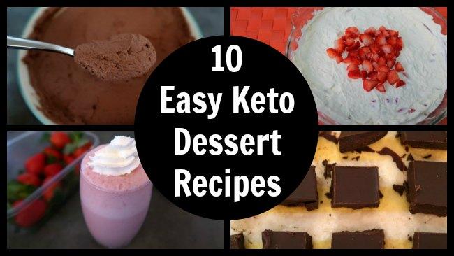 10 Easy Keto Dessert Recipes Collage
