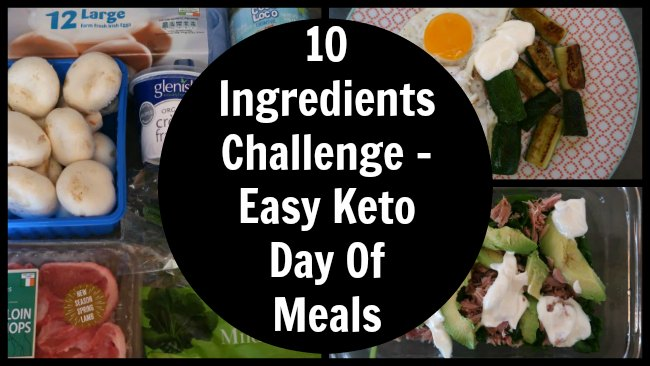 Collage of easy keto diet day of meals