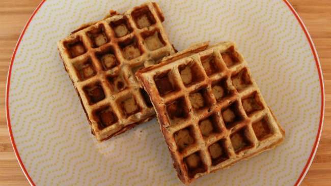 Gluten Free Coconut Flour Banana Waffles Recipe with 3 Ingredients