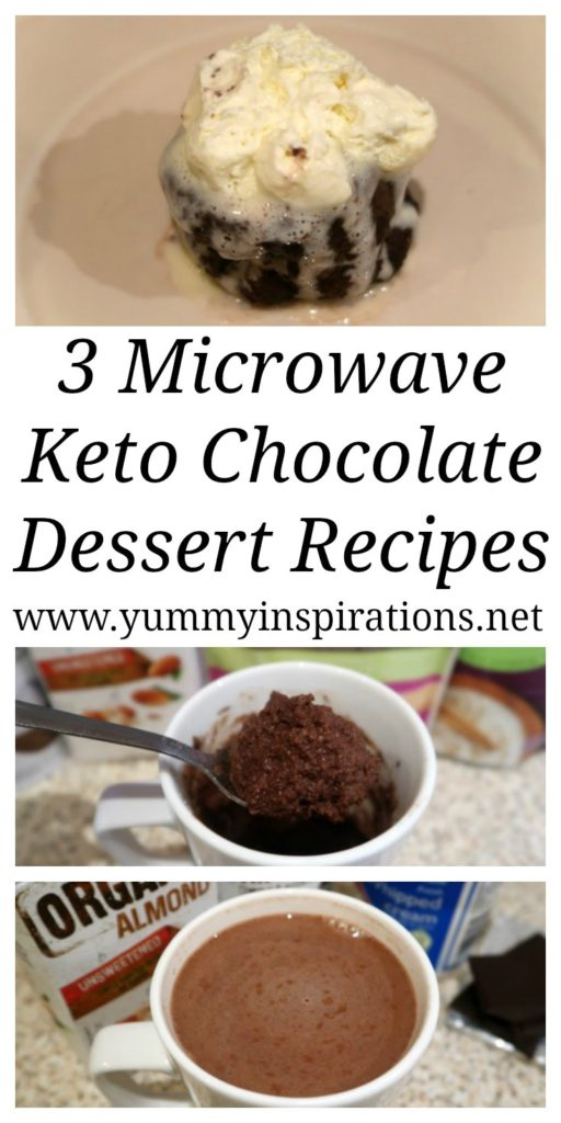 3 Microwave Chocolate Dessert Recipes Low Carb Keto