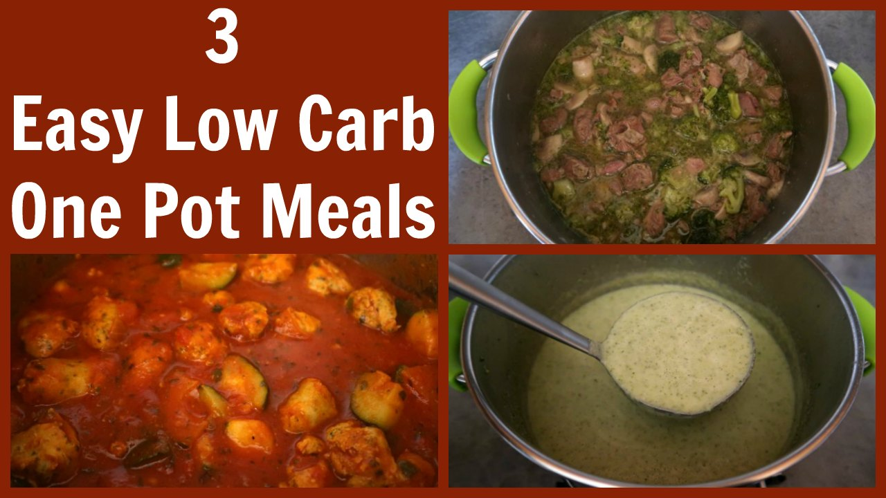 Simple Low Carb One Pot Meal Recipes
