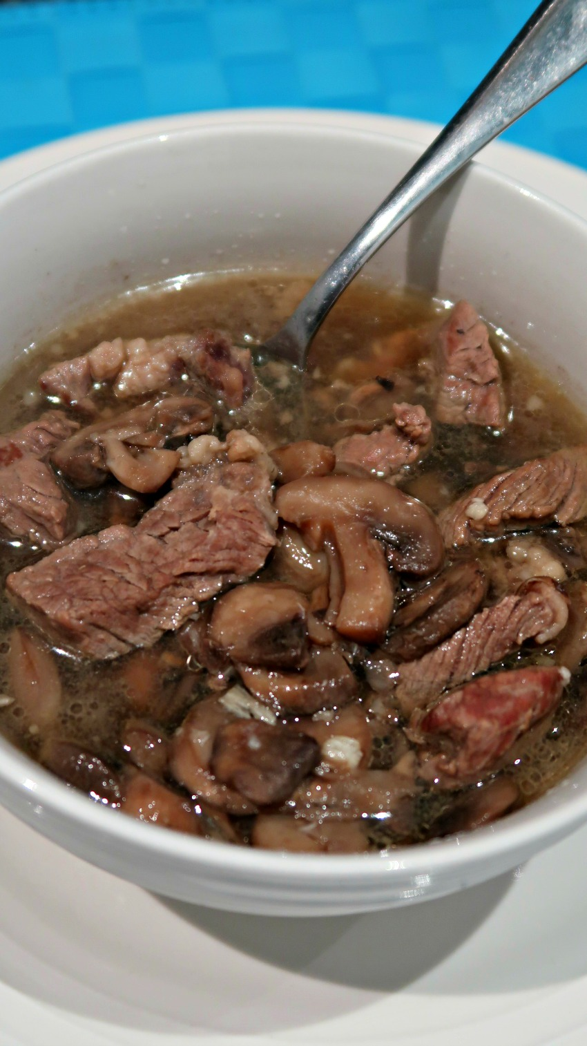 Budget keto beef and mushroom soup recipe
