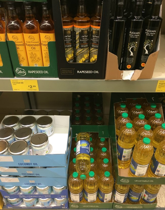 Coconut Oil and other Keto oil options at ALDI