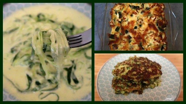 Collage of 3 Easy keto zucchini recipes