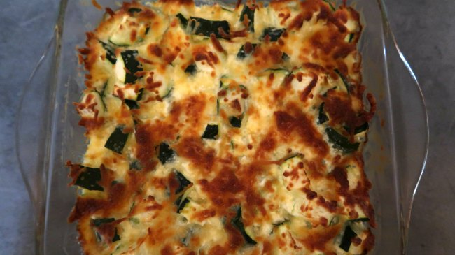 Easy Cheesy Keto Zucchini Casserole Bake
