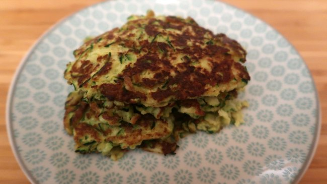 Easy low carb zucchini fritters