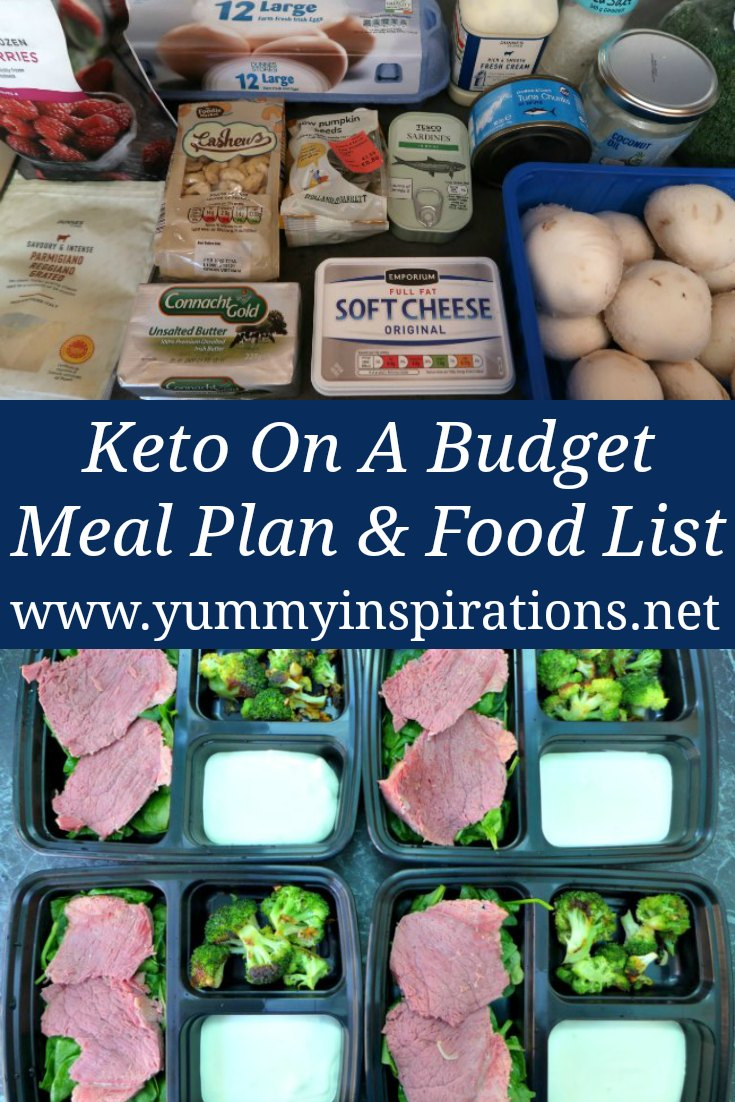 Keto Budget Meal Plan - How To Follow A Low Carb Diet On A Cheap Budget For Beginners - Meal Ideas, Recipes and a Grocery List.