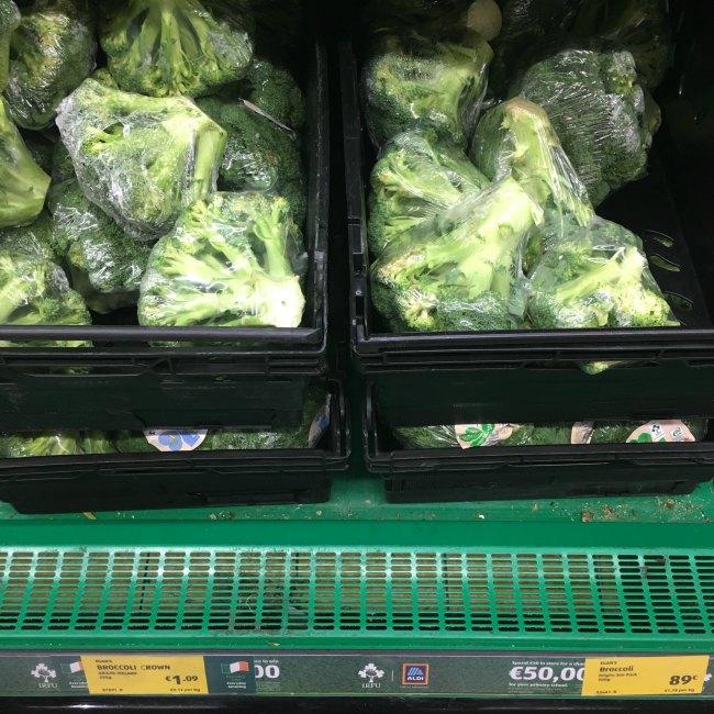 Low Carb vegetables at ALDI - broccoli