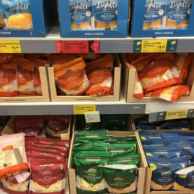 Top low carb keto cheese selection at ALDI