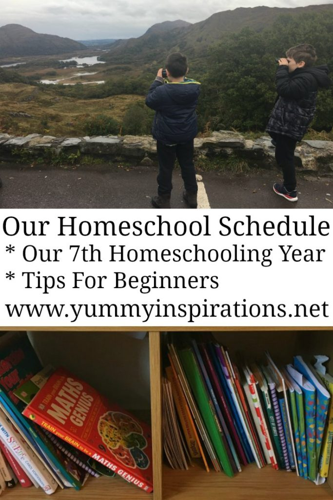 Our Homeschool Schedule - we're in our 7th year of homeschooling and I'm sharing our routine that works for us. With tips for beginners and how to juggle working from home too.