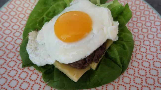 Low Carb Breakfast Burger