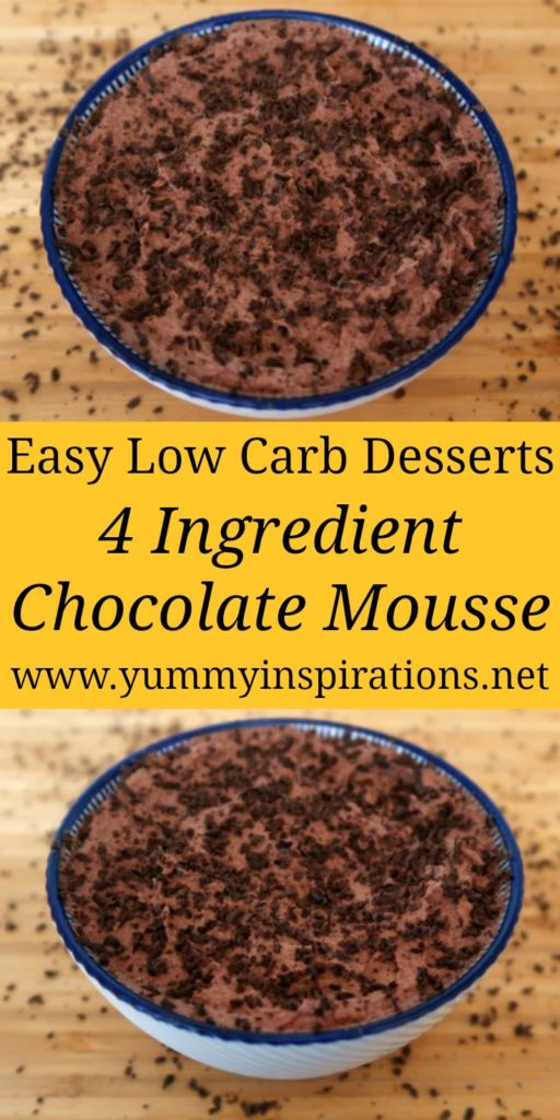Low Carb Chocolate Mousse Recipe - Easy No Bake Keto Desserts - With cream, cocoa powder and chocolate and the full video tutorial.