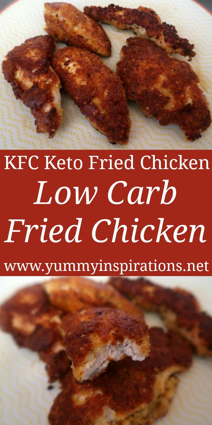 Low Carb Fried Chicken Recipe - How to make crispy, crunchy KFC Style Keto Fried Chicken with the video. Quick & Easy Ketogenic Dinner Ideas.