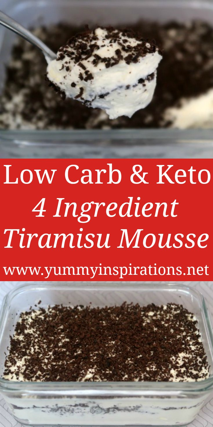 Tiramisu Mousse Recipe – Easy Low Carb, Keto & Sugar Free Chocolate Desserts – with the video.
