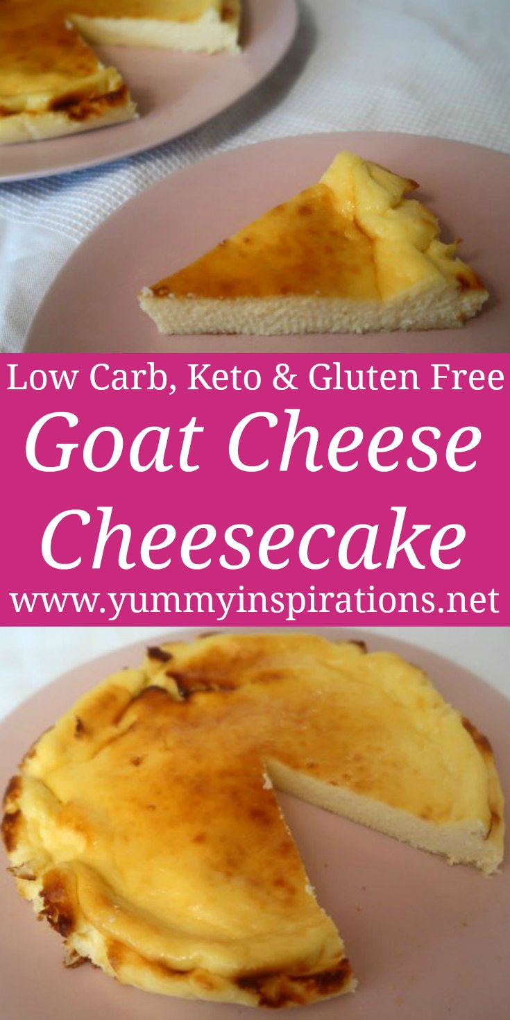 Goat Cheese Cheesecake Recipe - Easy Low Carb, Keto & Gluten Free Goat's Cheese Dessert idea with the video.