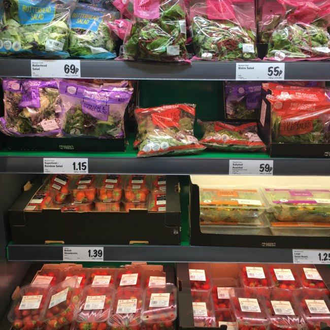 Keto fruit and vegetables at LIDL