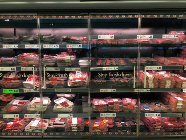 Meat chicken fish options at LIDL