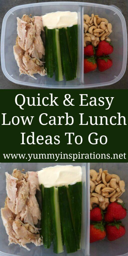 Idées de boîtes à lunch à faible teneur en glucides - Des repas simples et faciles Keto emballés pour aller au travail, à l'école, au collège ou à l'université - avec vidéo