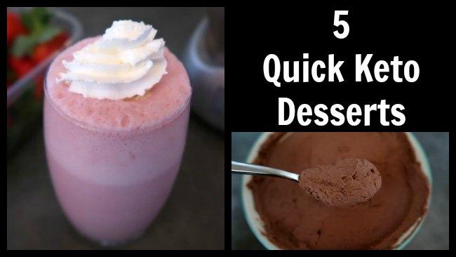 5 desserts Keto rapides - Recettes de desserts à faible teneur en glucides