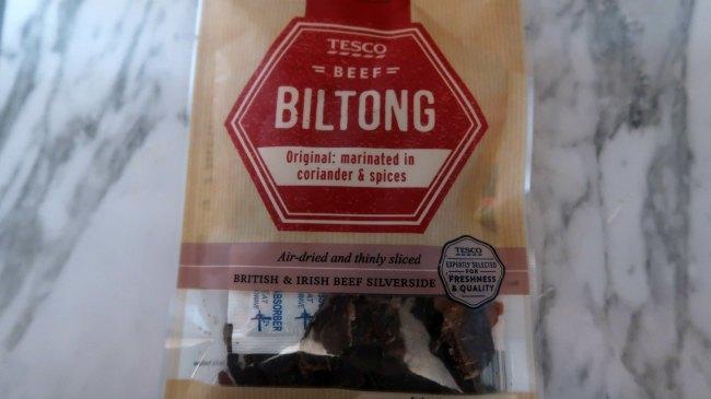Biltong, jerky or salami meat sticks
