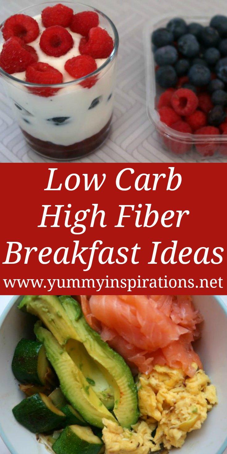 Aliments pour petit-déjeuner à faible teneur en glucides et riches en fibres - recettes, repas et idées respectueux du céto et riches en fibres naturelles - avec vidéo.
