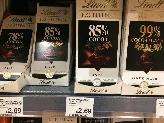 Store bought keto chocolate