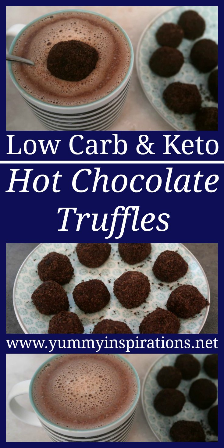 Hot Chocolate Truffles Recipe - How to make hot chocolate truffle bombs - low carb, keto and sugar free dessert treat idea - with the video.