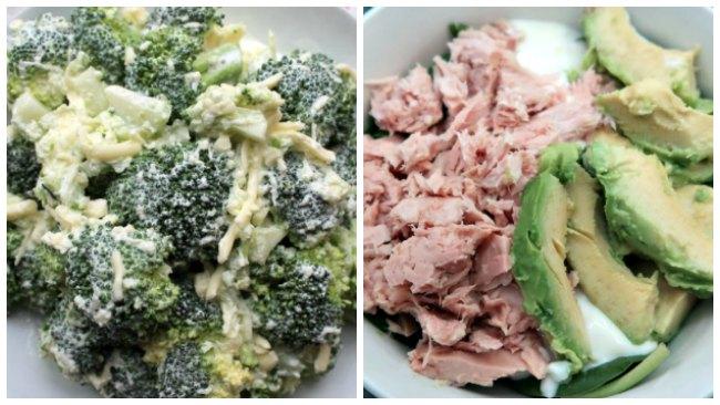 Idées de déjeuner de salade Keto Budget - brocoli et thon