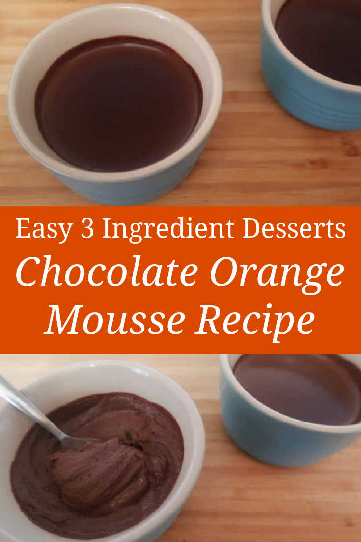 Chocolate Orange Mousse Recipe - How to make the best easy 3 ingredient dark eggless mousse that's low carb, sugar free and keto friendly - with the video.