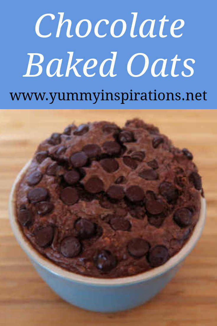 Chocolate Baked Oats Recipe – How To Make Easy Baked Oatmeal For One (with no banana!) – quick healthy breakfast or dessert – with the video.