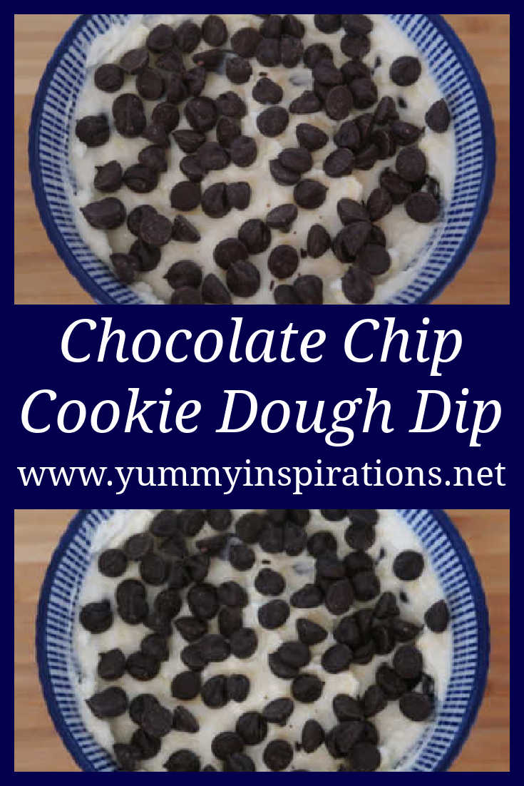 Chocolate Chip Cookie Dough Dip Recipe - easy 4 Ingredient no bake dessert with cream cheese - ready in under 5 minutes - with the video tutorial.