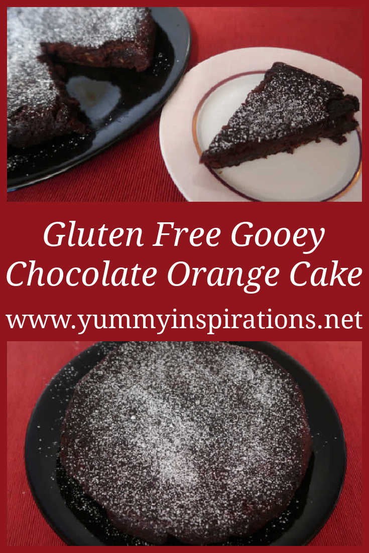 Gooey Chocolate Orange Cake Recipe - Easy Nigella Lawson inspired flourless gluten free cake with coconut flour and marmalade - with the video.