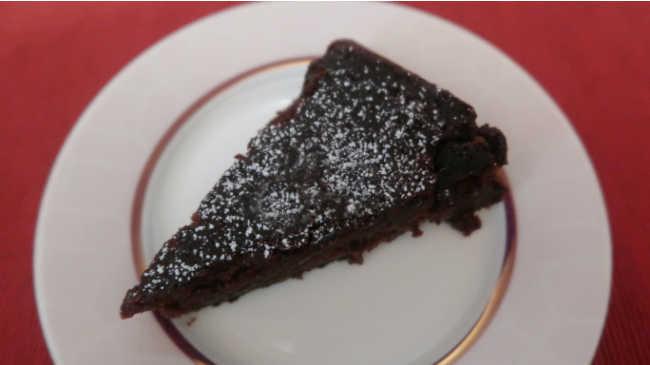 Slice of Nigella Lawson Flourless Chocolate Orange Cake