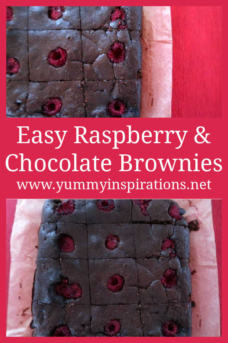Raspberry Brownies Recipe - How to make easy low carb gluten free chocolate brownie dessert with almond flour - with the video.