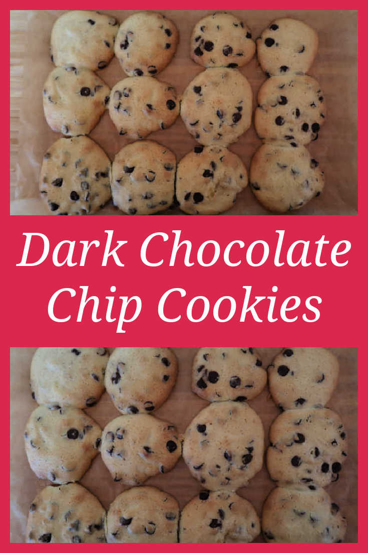 Dark Chocolate Chip Cookies Recipe - How to make an easy chocolate chip cookie baked treat with the video tutorial.