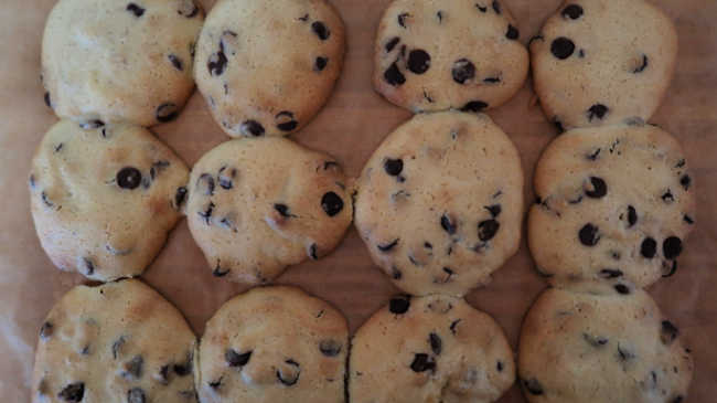 Tray of fresh home baked cookie dessert