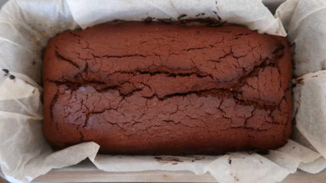 Chocolate loaf fresh from the oven