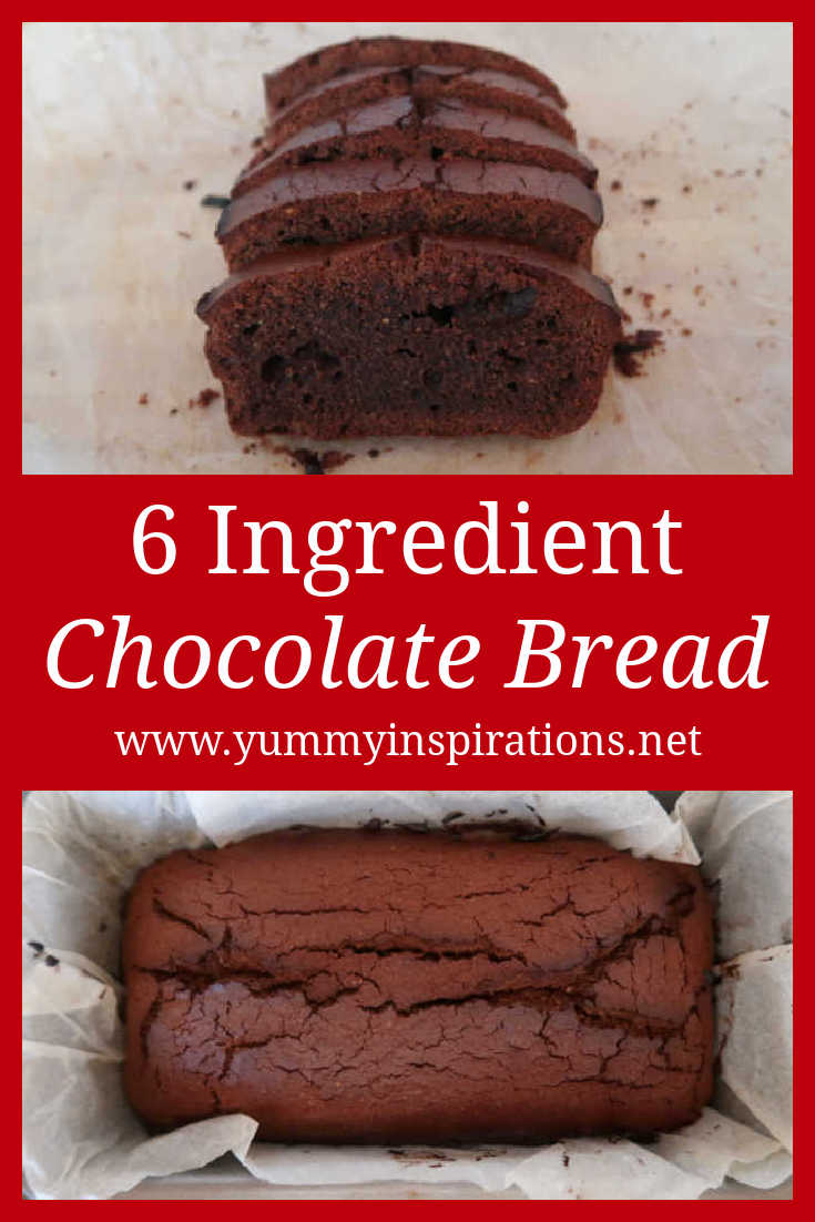 Easy Chocolate Bread Recipe - How to make a 6 ingredient chocolate loaf pound cake to enjoy as a simple pudding dessert - with the step by step video tutorial.